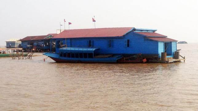 Floating house in Bangladesh